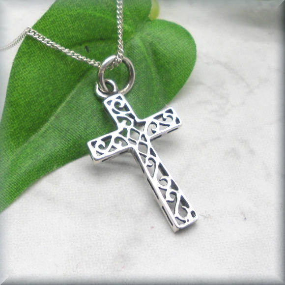 Scrollwork Cross - Religious Jewelry
