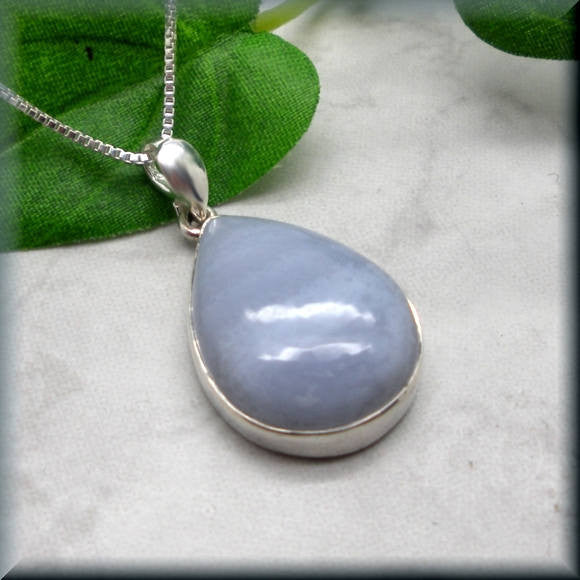 Blue Lace Agate Necklace - Gemstone Necklace