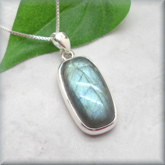 Blue Labradorite Necklace - Gemstone Necklace