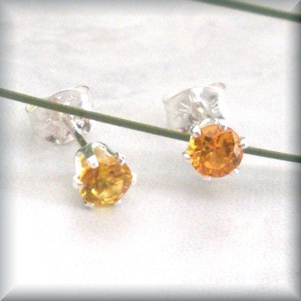 Topaz Post Earrings - November Birthstone - Bonny Jewelry
