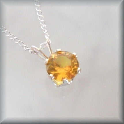 November Birthstone Necklace - Topaz Jewelry - Bonny Jewelry