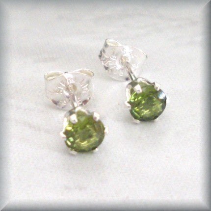Small-Round-Peridot-Earrings-Post-Studs-Sterling-Silver-Bonny-Jewelry