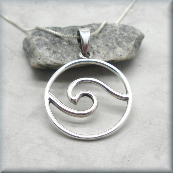 Sterling silver ocean wave necklace by Bonny Jewelry
