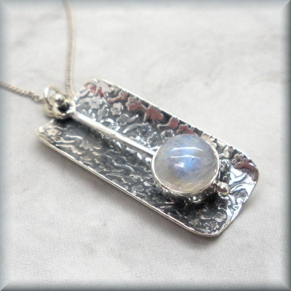 Sterling silver rainbow moonstone jewelry by Bonny Jewelry