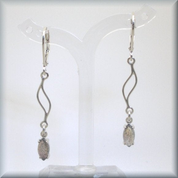 natural labradorite earrings by Bonny Jewelry