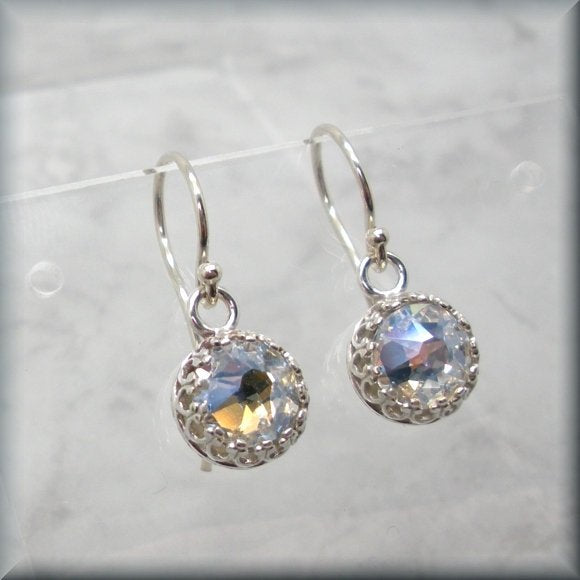swarovski faceted crystals earrings by Bonny Jewelry