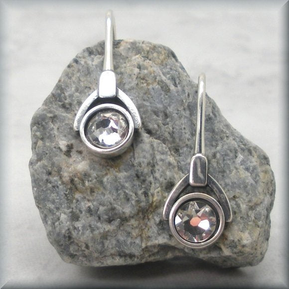 April crystal birthstone earrings by Bonny Jewelry