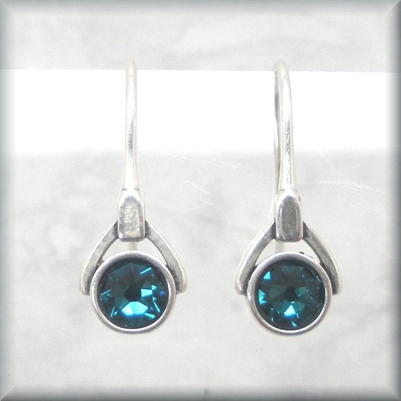 December crystal birthstone earrings by Bonny Jewelry