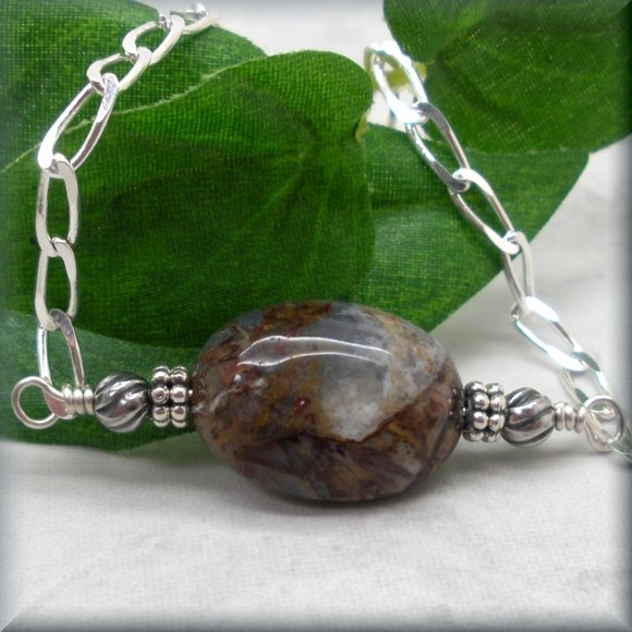 sterling silver pietersite bracelet by Bonny Jewelry
