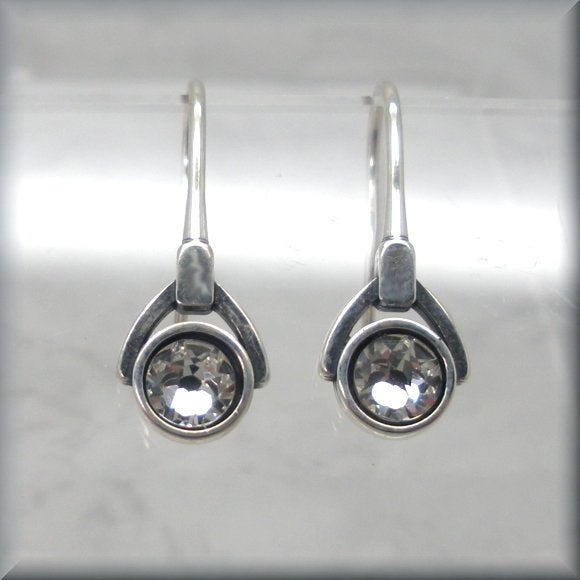 Swarovski crystal birthstone earrings by Bonny Jewelry