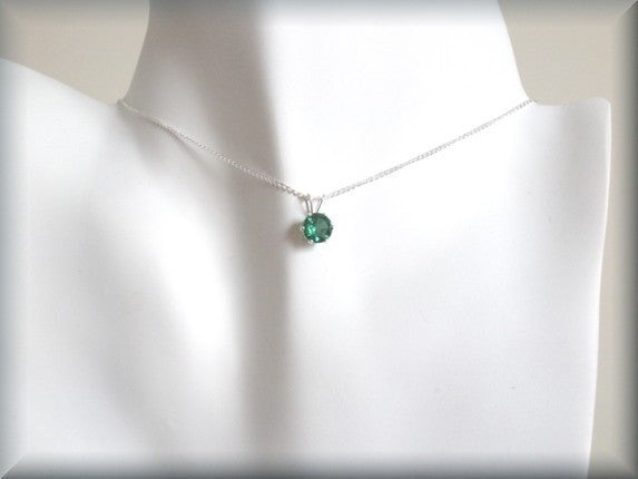 May Birthstone Necklace - Emerald Jewelry - Bonny Jewelry