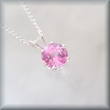 entire collection best supplier speical offer October Birthstone Necklace - Pink Tourmaline Jewelry – Bonny Jewelry