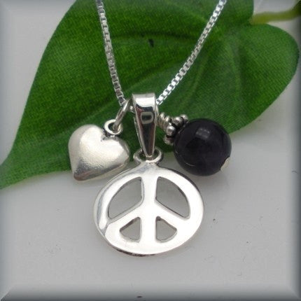 Peace Love and Happiness Charm Necklace - Bonny Jewelry