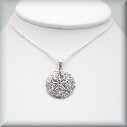 Silver Sand Dollar Necklace - Beach Jewelry - Bonny Jewelry