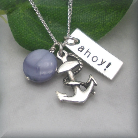 Ahoy Anchor Necklace - Nautical - Bonny Jewelry