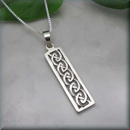 Celtic Bar Knot Necklace - Irish Jewelry - Bonny Jewelry