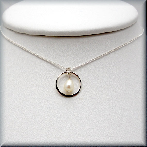 Encircled Pearl Necklace - Pearl Jewelry - Bonny Jewelry