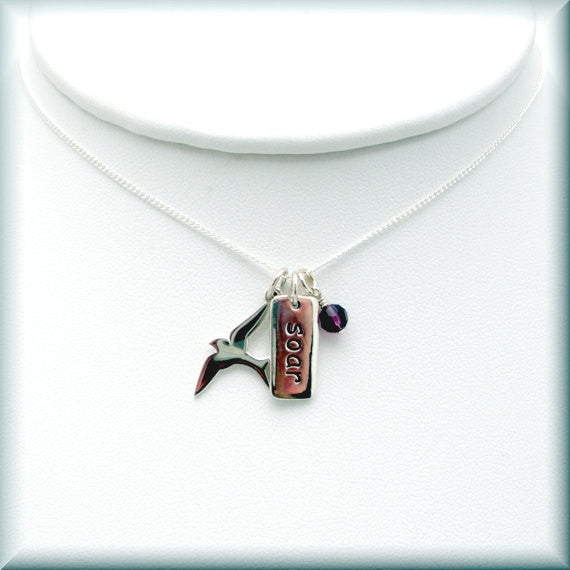 Soar Birthstone Necklace - Inspirational Jewelry - Bonny Jewelry