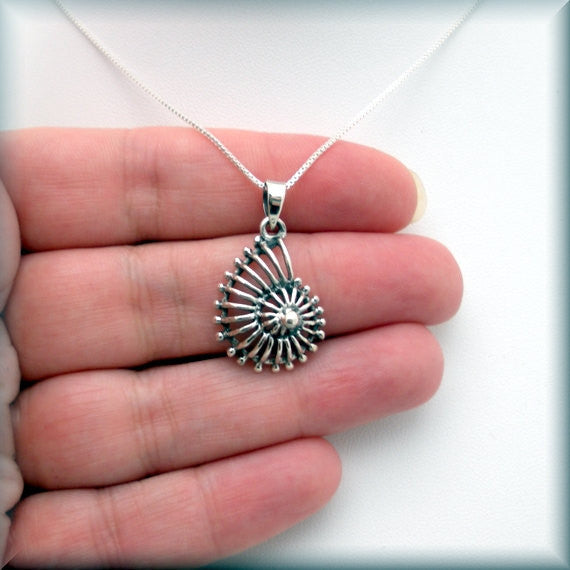 Nautilus Shell Necklace - Beach Jewelry - Seashell Pendant - Bonny Jewelry