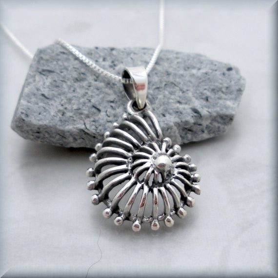 Nautilus Shell Necklace - Beach Jewelry - Seashell Pendant