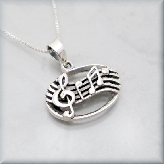 Music Note Necklace - Music Lover Jewelry - Bonny Jewelry