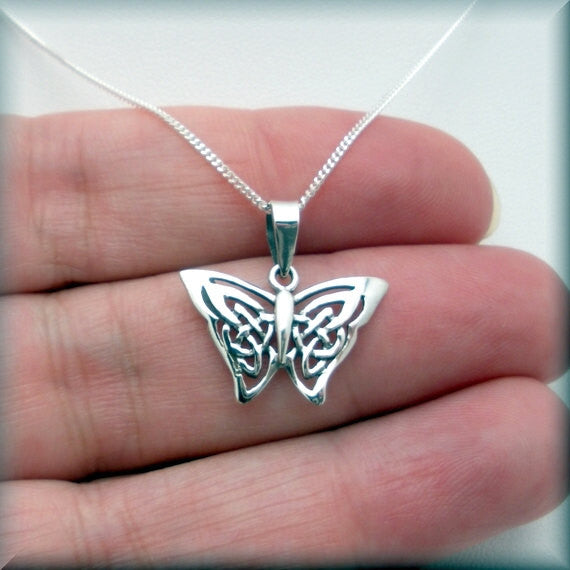 Celtic Butterfly Necklace - Irish Jewelry - Bonny Jewelry