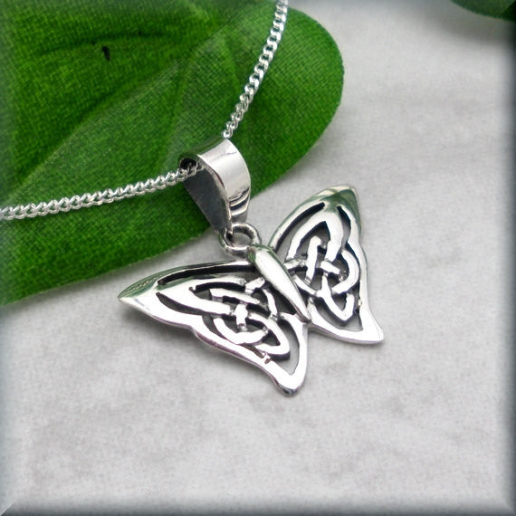 Silver Celtic Butterfly Necklace