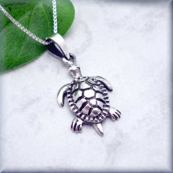 Sea Turtle Necklace - Beach Jewelry