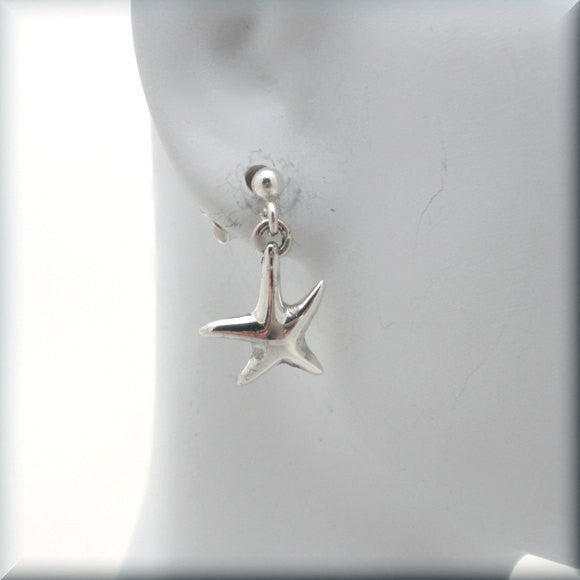 Dancing Starfish Post Earrings - Bonny Jewelry