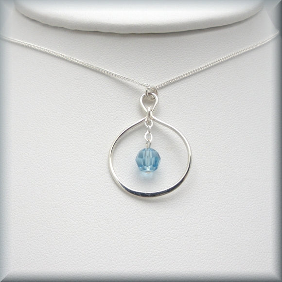 Infinity Crystal Birthstone Necklace Bonny Jewelry