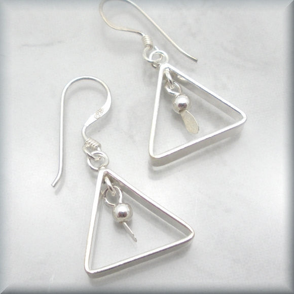 Triangle Geometric Earrings - Bonny Jewelry