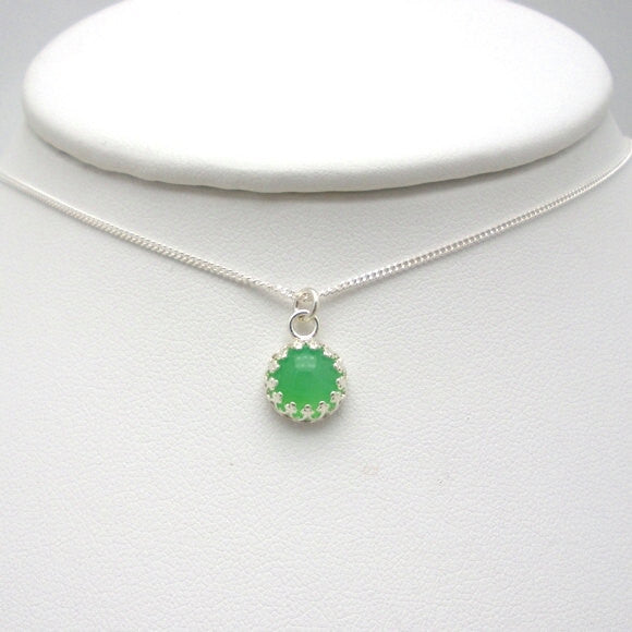Green Chrysoprase Necklace - Gemstone Jewelry - Bonny Jewelry