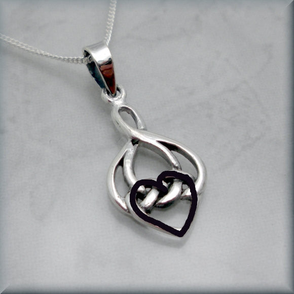 Love Knot Necklace - Celtic Necklace - Bonny Jewelry