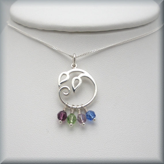 Mothers Birthstone Family Tree Necklace - For Mom or Grandmother - Bonny Jewelry