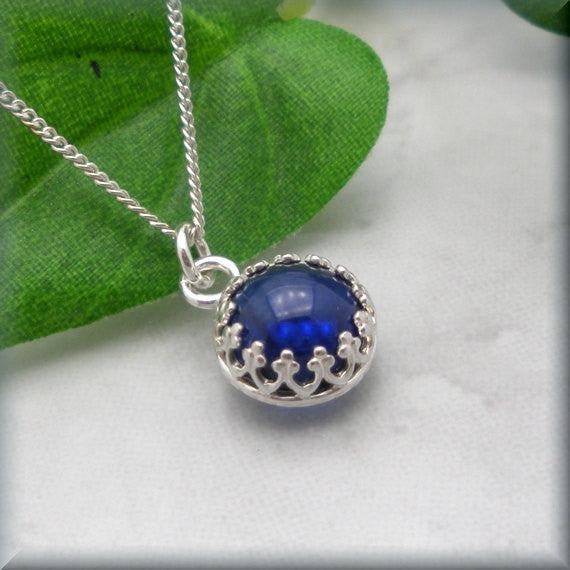 Blue Sapphire Necklace - September Birthstone Jewelry