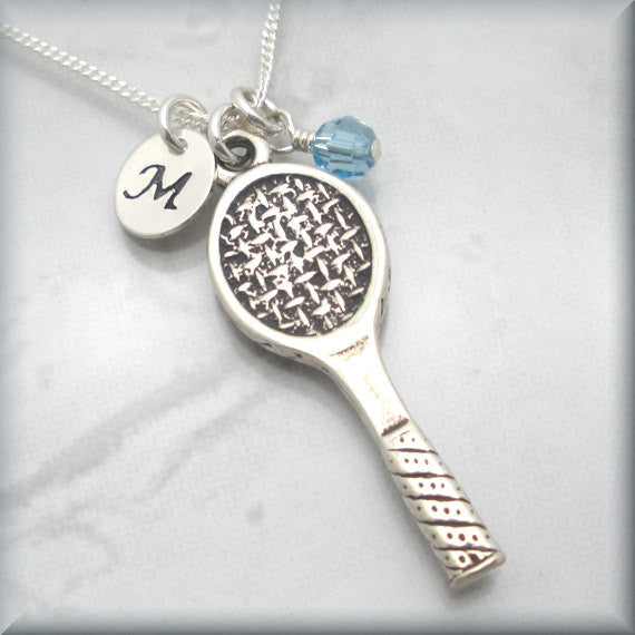 Tennis Birthstone Necklace - Personalized Sports Jewelry - Bonny Jewelry