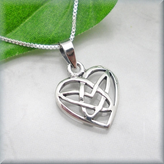 Celtic Heart Necklace - Irish Knot