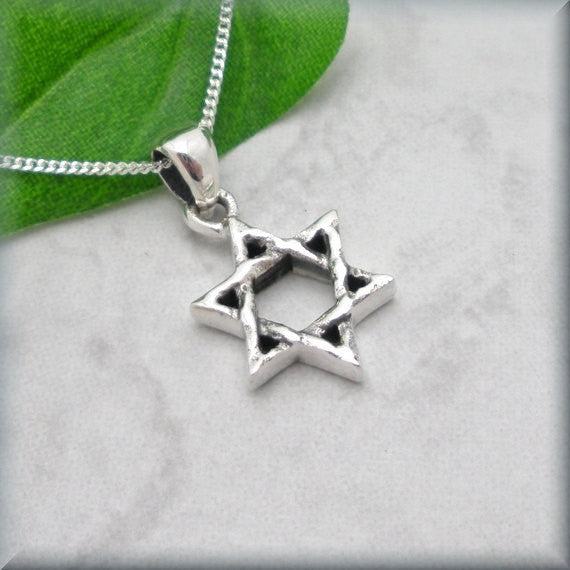Rustic Jewish Star of David Necklace Bonny Jewelry