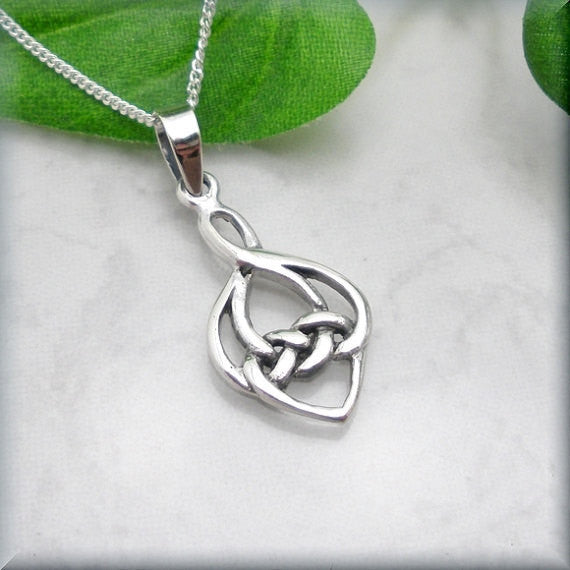 Hidden Heart Necklace - Celtic Necklace