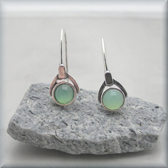 Green Chrysoprase Gemstone Earrings - Bonny Jewelry