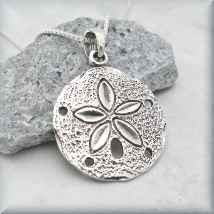 Silver Sand Dollar Necklace - Beach Jewelry