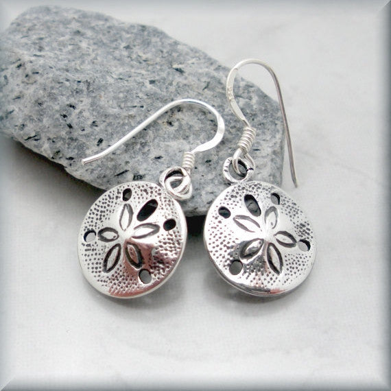 Sand Dollar Beach Earrings