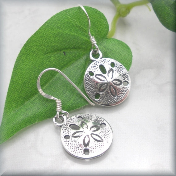 Sand Dollar Beach Earrings - Bonny Jewelry