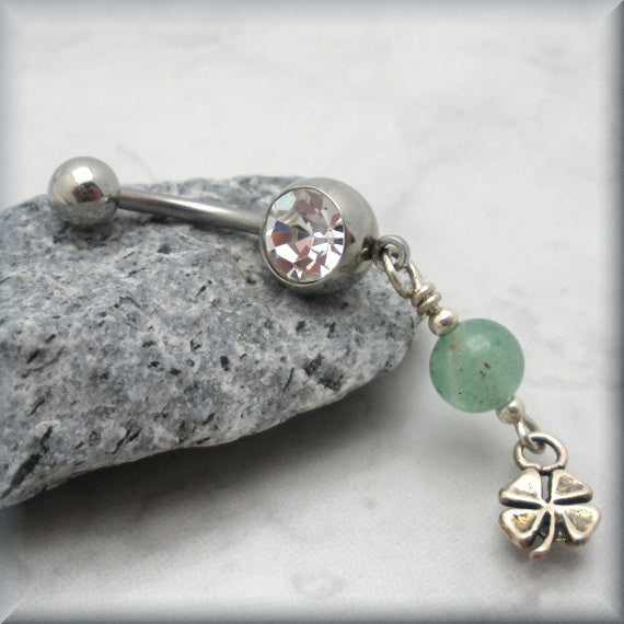 Shamrock Belly Ring - Four Leaf Clover Bonny Jewelry