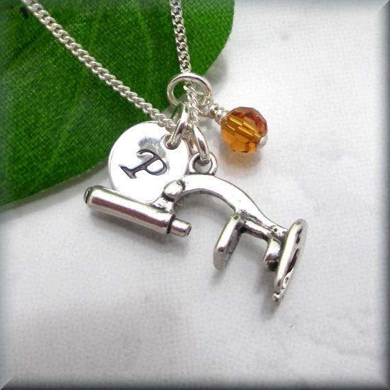 Microscope Necklace - Personalized Birthstone Jewelry - Bonny Jewelry