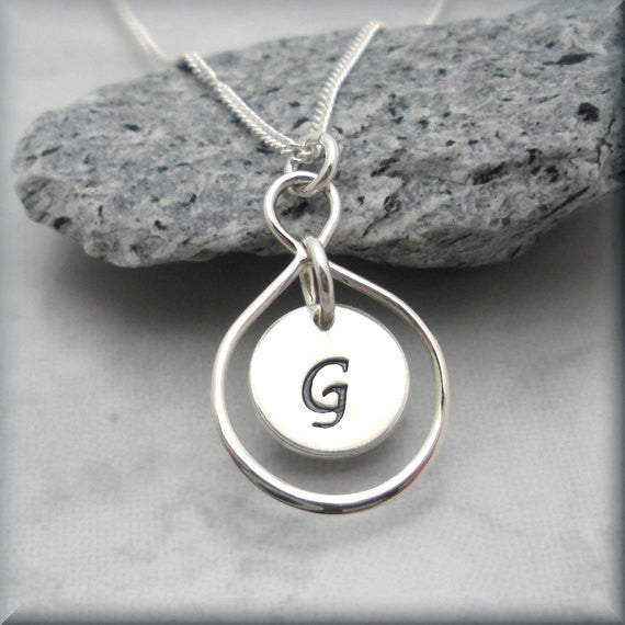 Personalized Infinity Necklace - Sterling Silver