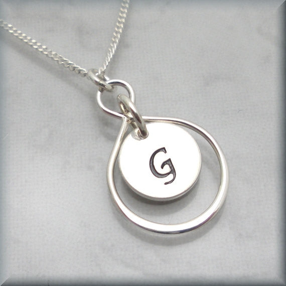 Personalized Infinity Necklace - Sterling Silver - Bonny Jewelry