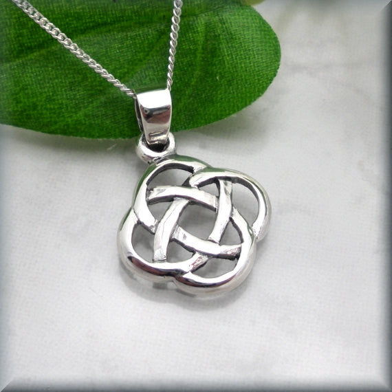 Celtic Eternity Knot Necklace - Irish Jewelry
