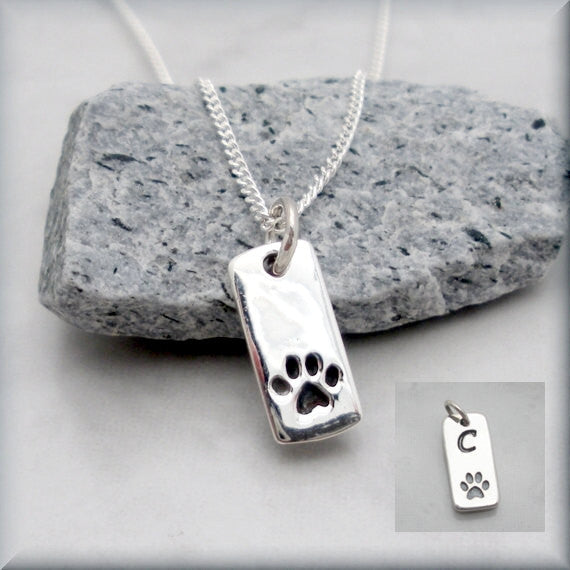 Dog Paw Necklace - Pet Necklace