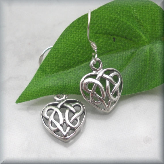 Celtic Heart Earrings - Bonny Jewelry